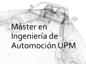 Máster en Ingeniería de Automoción